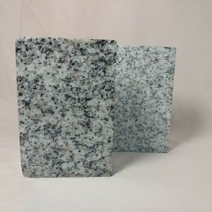 solid Granite bookend set polished textured stone